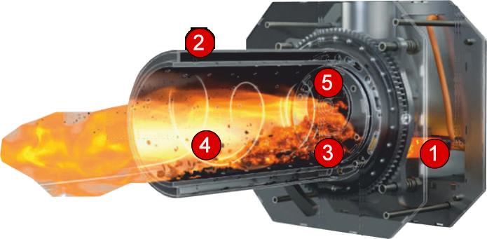 Chambre de combustion chaudière SmartGranule